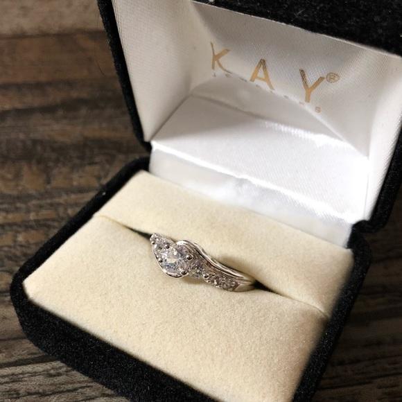 11dac585e Kay Jewelers Jewelry | Silver Cluster Stone Ring | Poshmark
